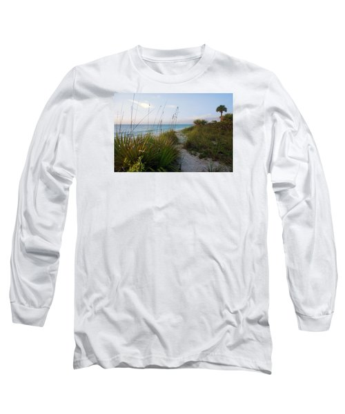 Pathway To Barefoot Beach  In Naples Long Sleeve T-Shirt