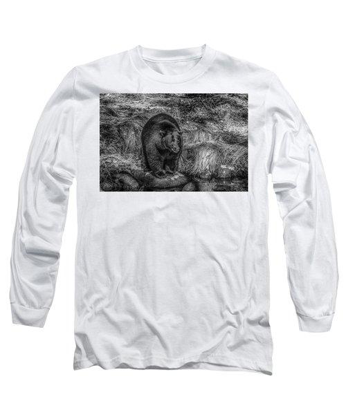 Patient Black Bear Long Sleeve T-Shirt
