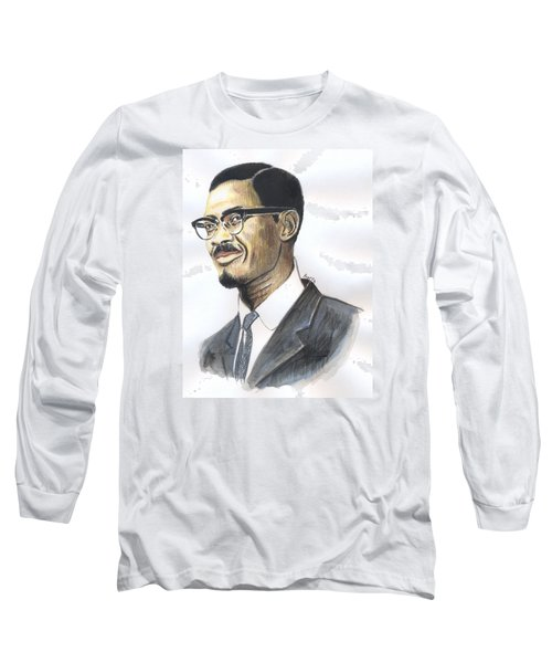 Patrice Emery Lumumba Long Sleeve T-Shirt