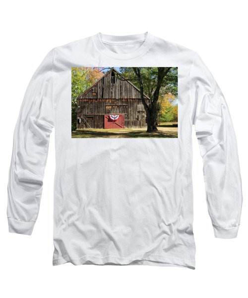 Patriotic Barn Long Sleeve T-Shirt
