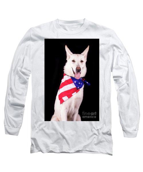 Patriotic Dog Long Sleeve T-Shirt