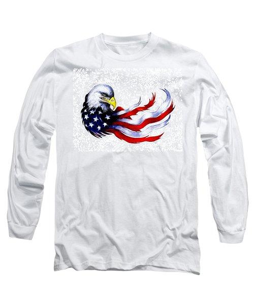 Patriotic Eagle Signed Long Sleeve T-Shirt