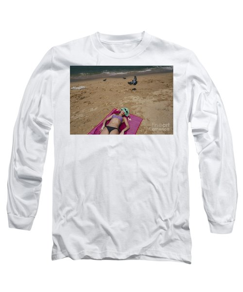 Long Sleeve T-Shirt featuring the photograph Pattaya Beach by Setsiri Silapasuwanchai