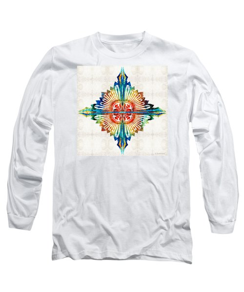 Pattern Art - Color Fusion Design 1 By Sharon Cummings Long Sleeve T-Shirt by Sharon Cummings
