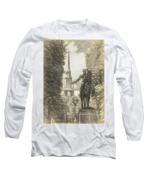 Paul Revere Rides Sketch Long Sleeve T-Shirt