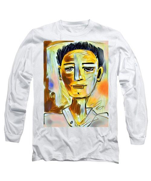 Pauls Portrait Long Sleeve T-Shirt by Elaine Lanoue