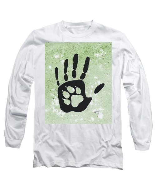 Paw And Hand Long Sleeve T-Shirt