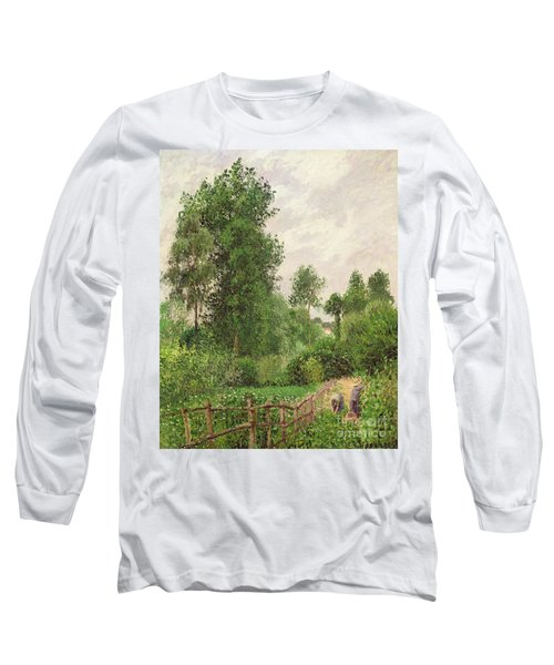 Paysage, Temps Gris A Eragny Long Sleeve T-Shirt