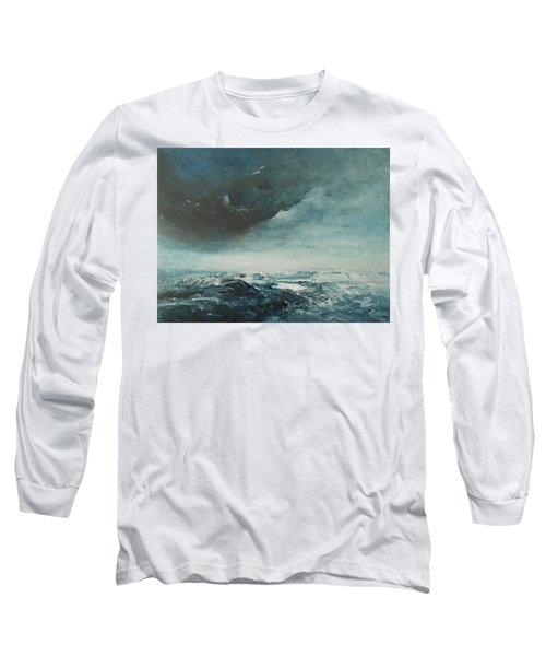 Peace In The Midst Of The Storm Long Sleeve T-Shirt by Jane See