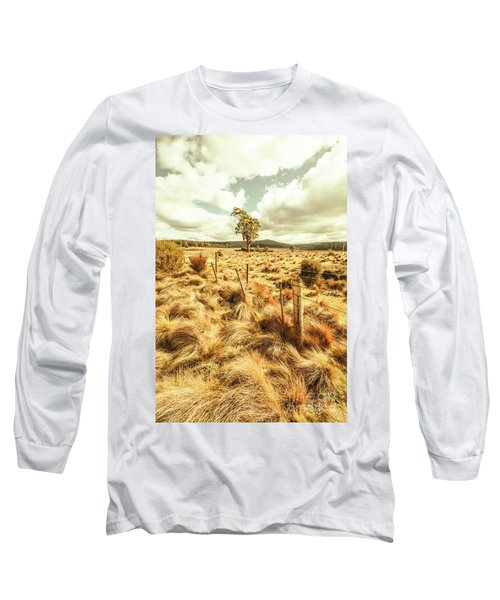 Peaceful Country Plains Long Sleeve T-Shirt
