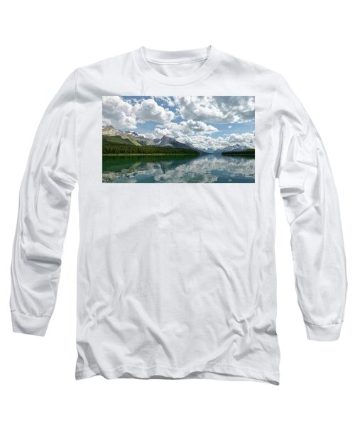 Peaceful Maligne Lake Long Sleeve T-Shirt by Sebastien Coursol