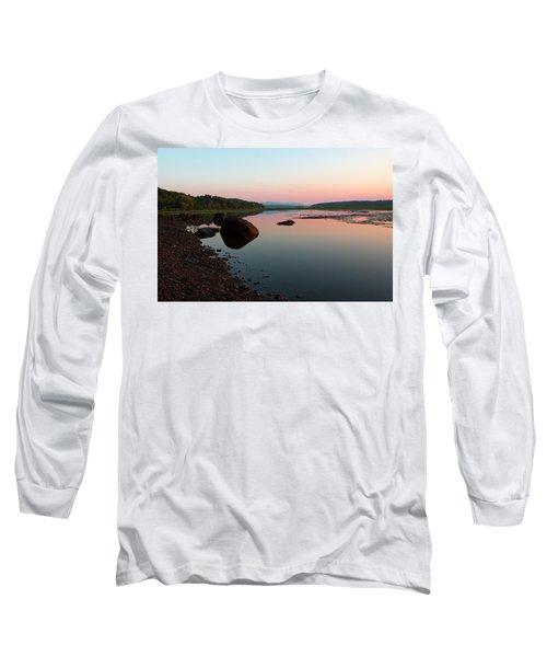Peaceful Morning On The Hudson Long Sleeve T-Shirt