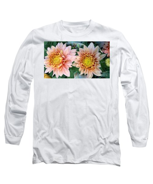 Peachy Chrysanthemums Long Sleeve T-Shirt
