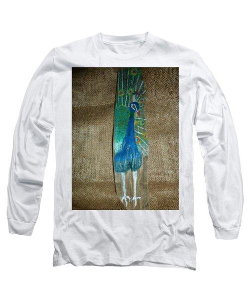 Peacock Long Sleeve T-Shirt by Ann Michelle Swadener