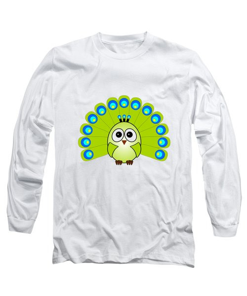Peacock  - Birds - Art For Kids Long Sleeve T-Shirt