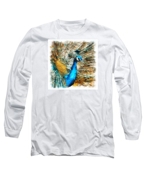 Peacock Long Sleeve T-Shirt by Charmaine Zoe