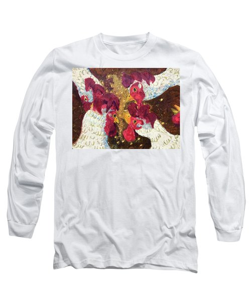 Long Sleeve T-Shirt featuring the painting Pecking Order by Jame Hayes