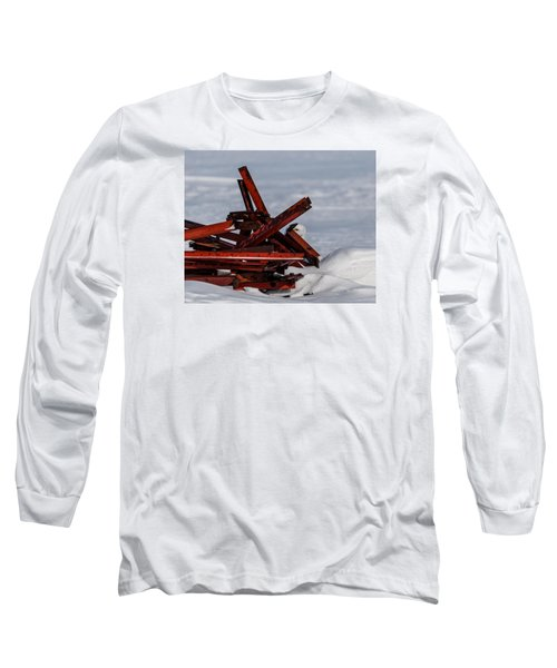 Peek-a-boo Long Sleeve T-Shirt by Dan Traun