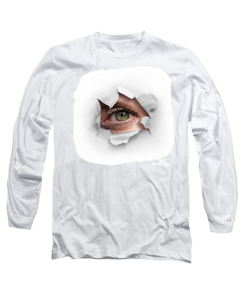 Peek Through A Hole Long Sleeve T-Shirt