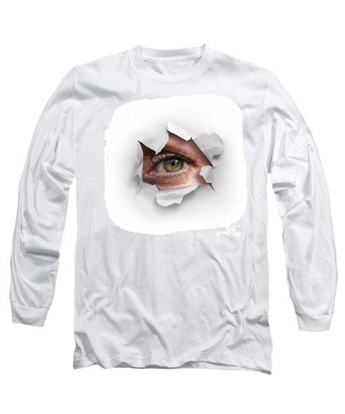 Peek Through A Hole Long Sleeve T-Shirt by Carlos Caetano