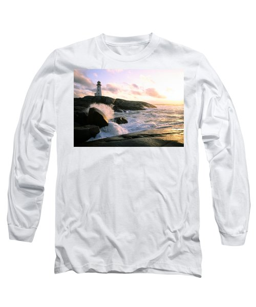 Peggy's Point Lighthouse, Canada, Nova Scotia, Peggy's Cove Long Sleeve T-Shirt