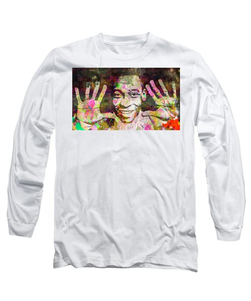 Long Sleeve T-Shirt featuring the mixed media Pele by Svelby Art