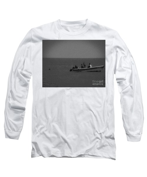 Pelican And The Fishing Boat Long Sleeve T-Shirt