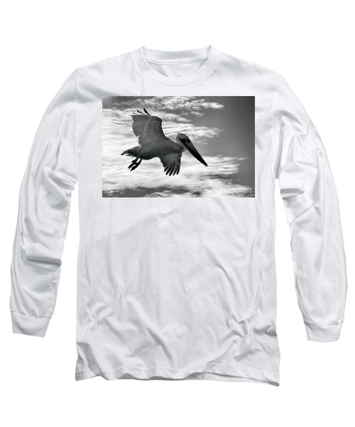 Pelican In Flight Long Sleeve T-Shirt
