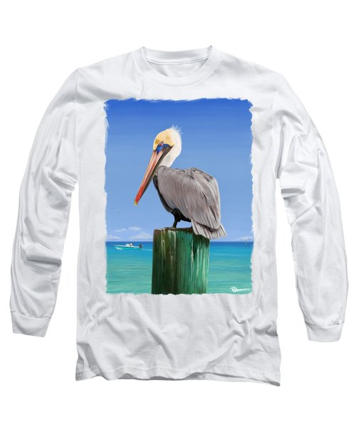 Pelicans Post Long Sleeve T-Shirt by Kevin Putman