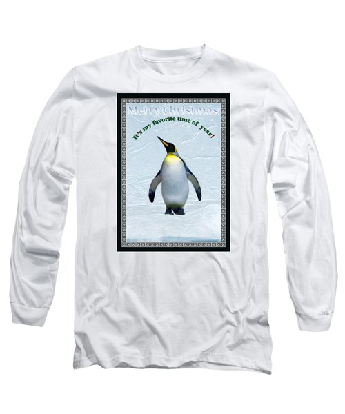 Penguin Christmas Long Sleeve T-Shirt by Steve Karol