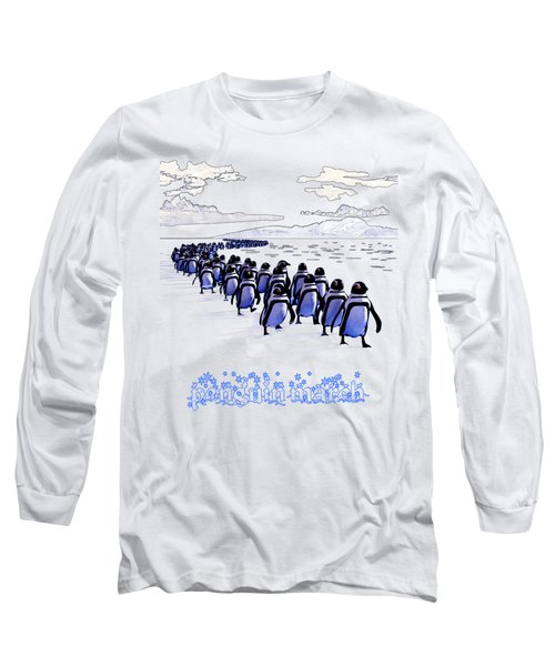 Penguin March Long Sleeve T-Shirt by Methune Hively