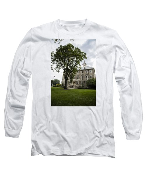 Penn State Old Main From Side  Long Sleeve T-Shirt by John McGraw