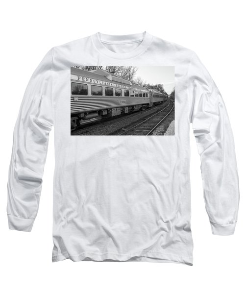 Pennsylvania Reading Seashore Lines Train Long Sleeve T-Shirt by Terry DeLuco