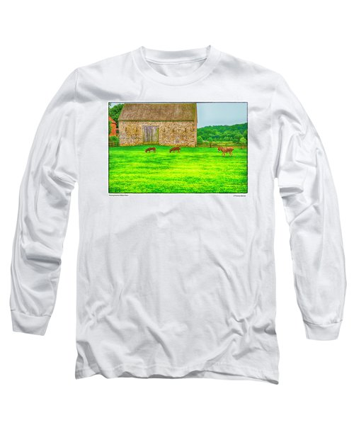 Pennsylvania's Oldest Barn Long Sleeve T-Shirt by R Thomas Berner
