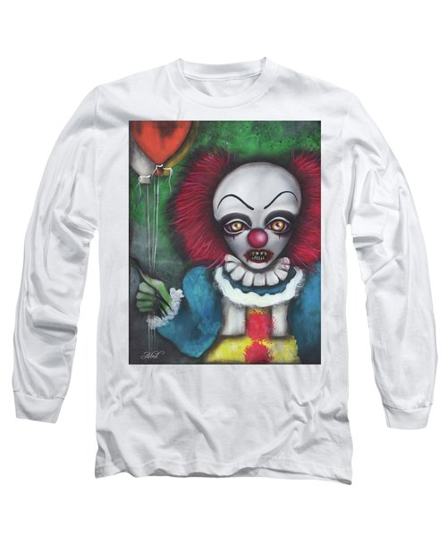 Pennywise Long Sleeve T-Shirt by Abril Andrade Griffith