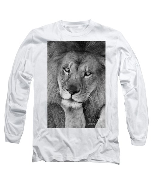 Pensive Black And White Long Sleeve T-Shirt