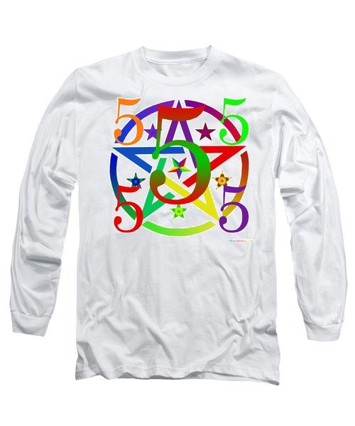 Penta Pentacle White Long Sleeve T-Shirt