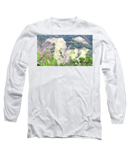 Penuelas, Puerto Rico Mountains Long Sleeve T-Shirt