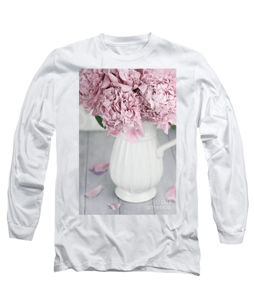 Peonies In A Vase Long Sleeve T-Shirt