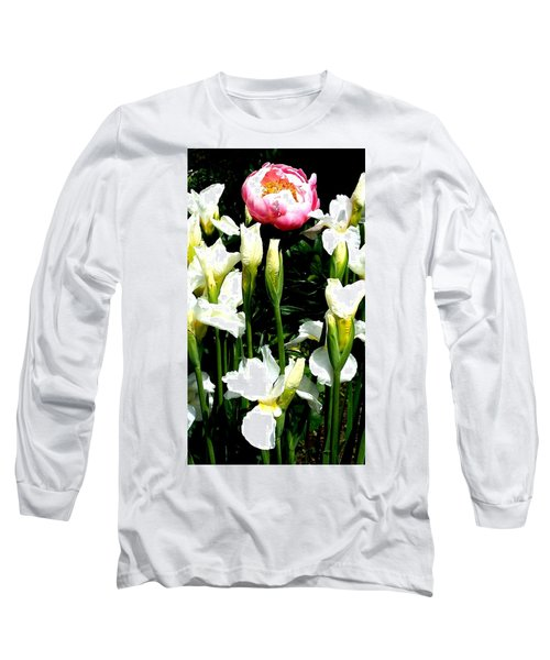 Peony And Iris Long Sleeve T-Shirt