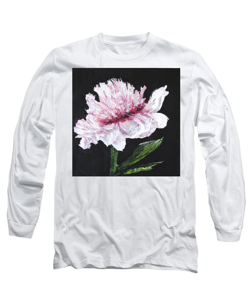 Peony Bloom Long Sleeve T-Shirt by Betty-Anne McDonald