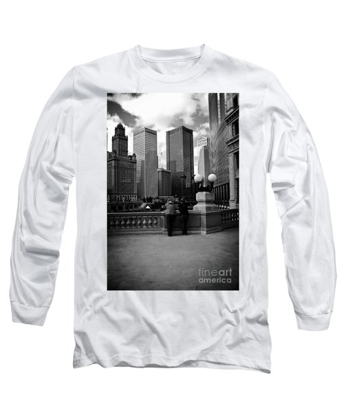People And Skyscrapers Long Sleeve T-Shirt