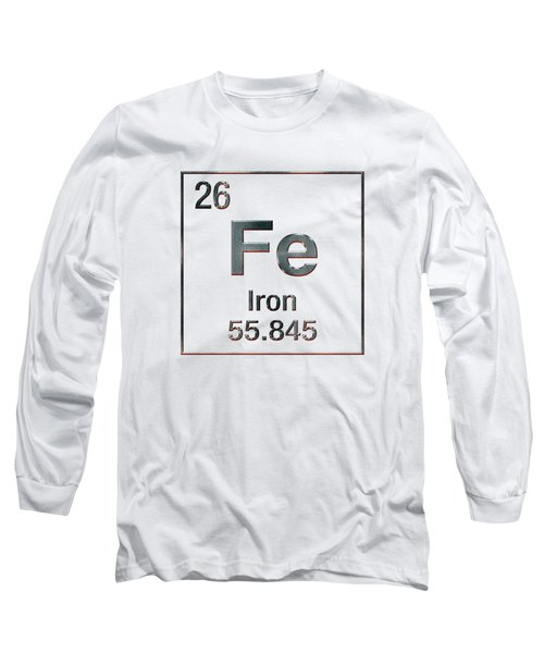 Periodic Table Of Elements - Iron Fe Long Sleeve T-Shirt