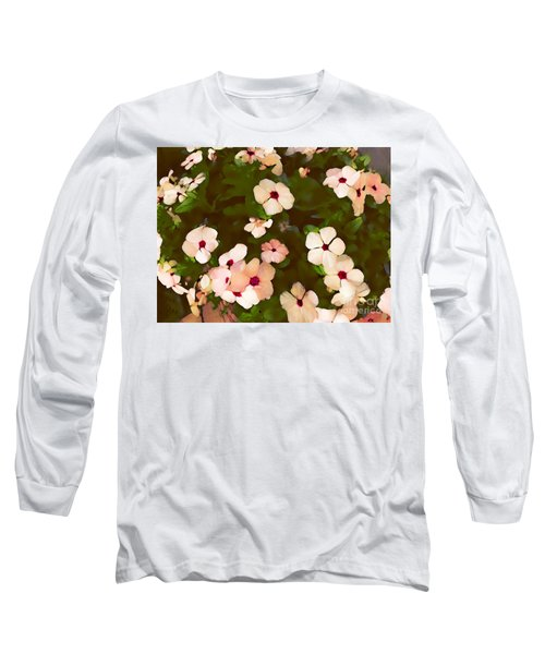 Periwinkle Long Sleeve T-Shirt by David Blank