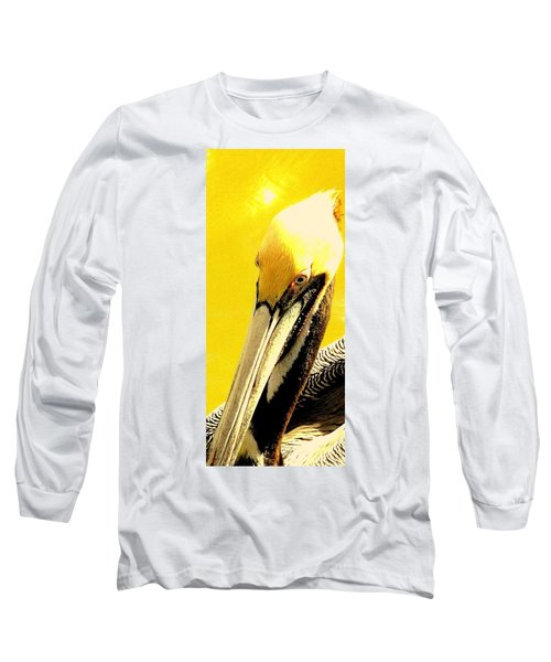 Long Sleeve T-Shirt featuring the photograph Peruvian Pelican by Antonia Citrino