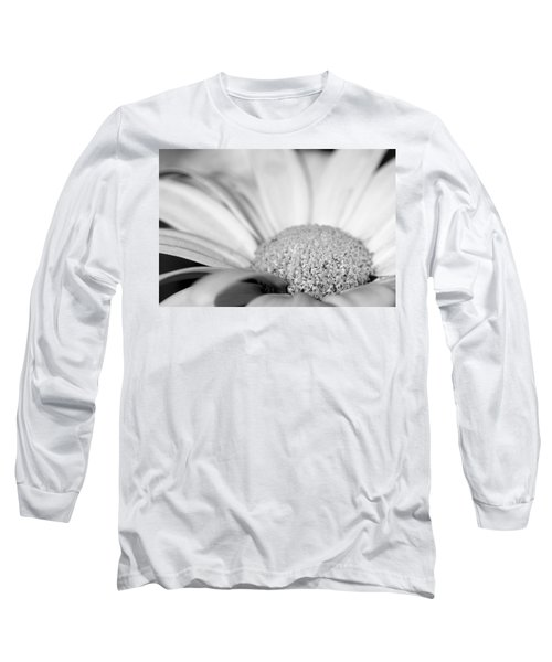 Petals - Black And White Long Sleeve T-Shirt by Angela Rath
