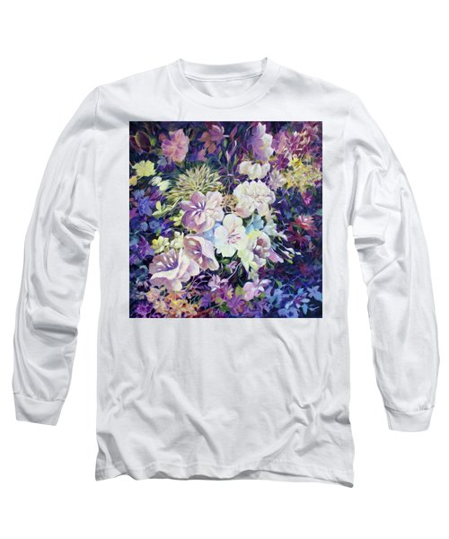 Long Sleeve T-Shirt featuring the painting Petals by Joanne Smoley