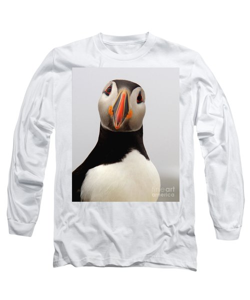 Peter The Puffin Long Sleeve T-Shirt by Jane Axman
