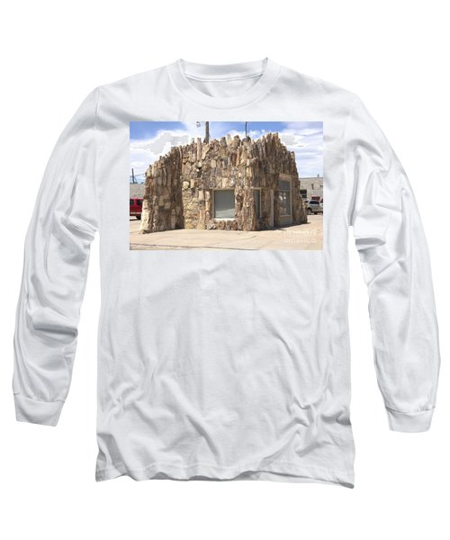 Petrified Wood Building Long Sleeve T-Shirt