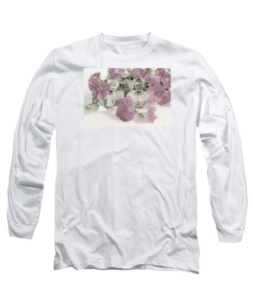 Petunias And Perfume - Soft Long Sleeve T-Shirt by Sandra Foster